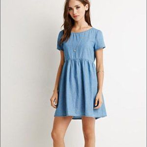 Forever 21 Chambray Babydoll Dress